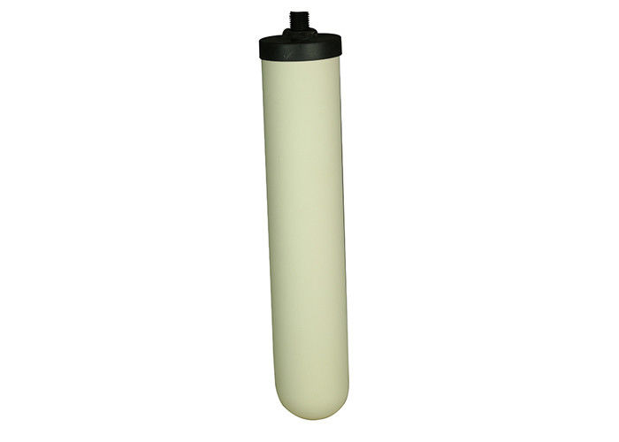 White / Black Pottery Candle Gravity Ceramic Filter Cartridge With Carbon Adsorption Effect